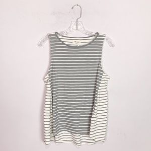 Madewell striped tank top grey & white size large